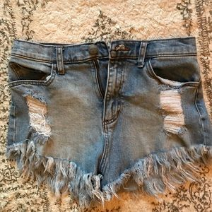 Trendy Distressed High Rise shorts